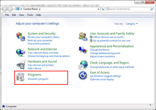 Uninstall DriverIdentifier on Windows 7